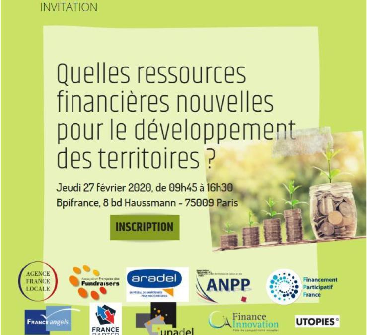 Rencontre Les ressources financières locales au service du territoire le 27/02
