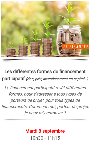 Webinar : Les différentes formes du financement participatif