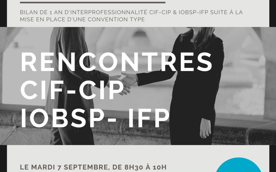 Rencontres CIP-CIF & IOBSP-IFP